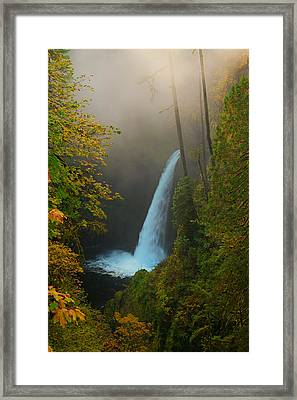 Metlako Falls In Autumn Framed Print