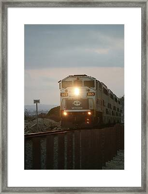 The Pacific Metro Coaster Framed Print