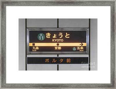 Metro Rail Signage Framed Print by Jeremy Woodhouse