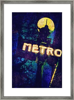 Metro Framed Print by Skip Nall