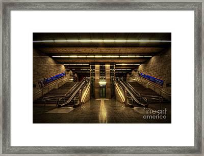 Metro Underground - Passeig De Gracia Framed Print
