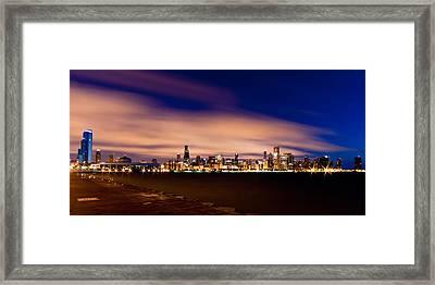 Metropolitan Blues Framed Print by Daniel Chen