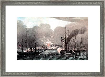 Mexican-american War, Naval Bombardment Framed Print by Photo Researchers