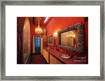 Mexican Bathroom Framed Print
