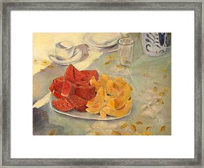 Mexican Breakfast Framed Print by Rita Bentley