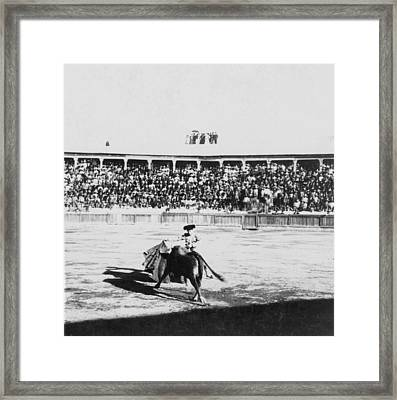 Mexican Bull Ring - C 1900 Framed Print by International  Images