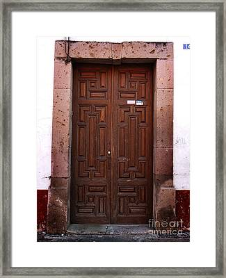 Mexican Door 45 Framed Print by Xueling Zou