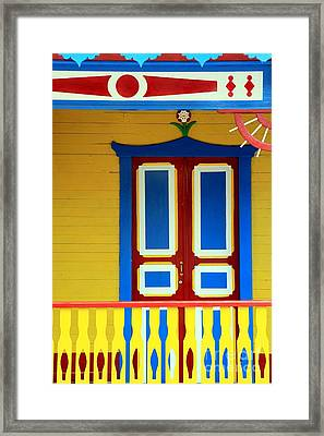 Mexican Facade Framed Print by Sophie Vigneault