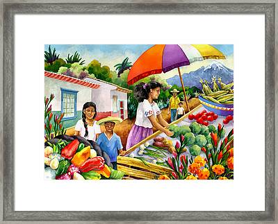 Mexican Marketplace Framed Print by Anne Gifford