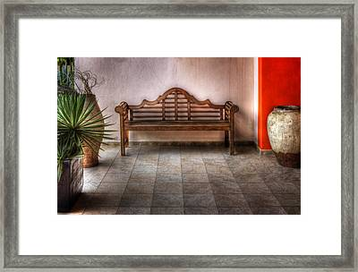 Mexican Patio Framed Print