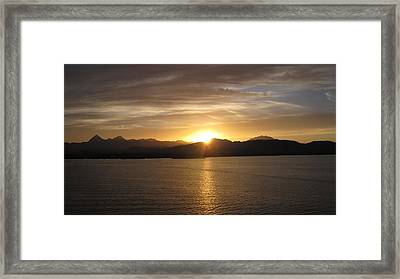 Framed Print featuring the photograph Mexican Sunset by Marilyn Wilson