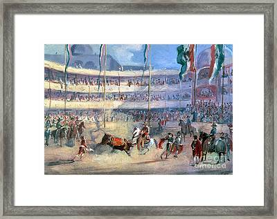 Mexico: Bullfight, 1833 Framed Print by Granger