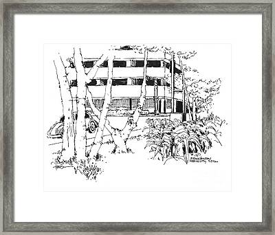 Mexico City Office Building Zona Rosa Framed Print by Robert Birkenes