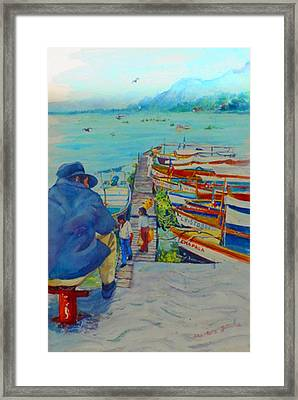 Mexico Lake Chapala Framed Print by Estela Robles