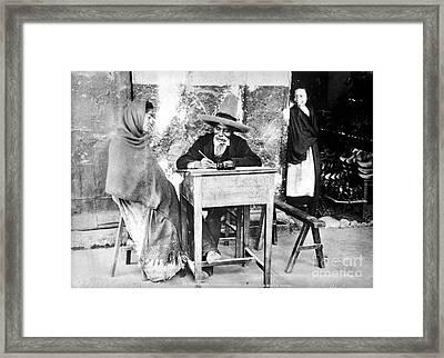 Mexico: Letter Writer Framed Print