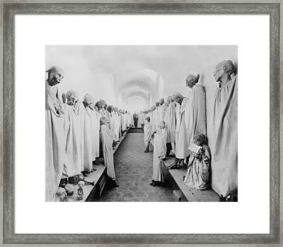 Mexico, Mummies In The Basement Framed Print