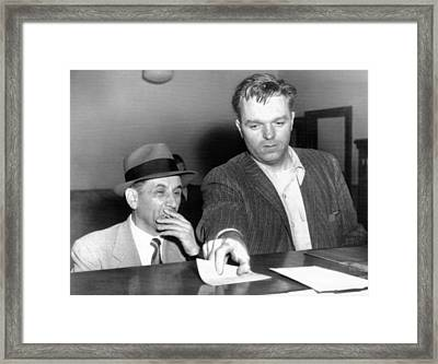 Meyer Lansky Is Booked On Vagrancy Framed Print