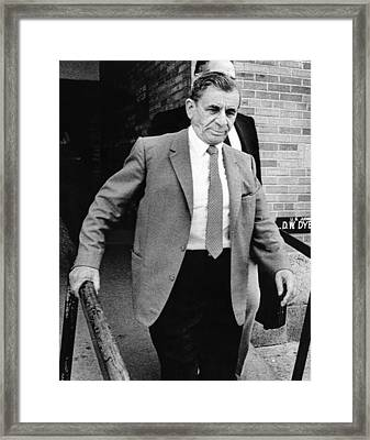 Meyer Lansky Leaves Federal Court July Framed Print by Everett