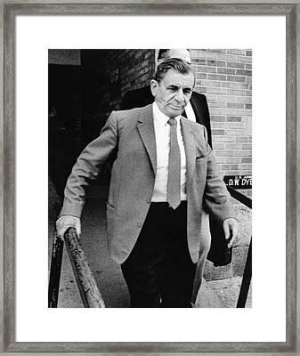 Meyer Lansky Leaves Federal Court July Framed Print by Everett