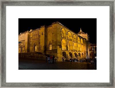 Mezquita At Night In Cordoba Framed Print by Artur Bogacki