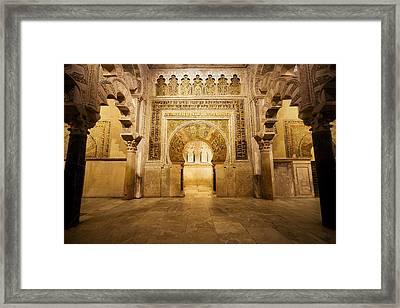 Mezquita Mihrab In Cordoba Framed Print
