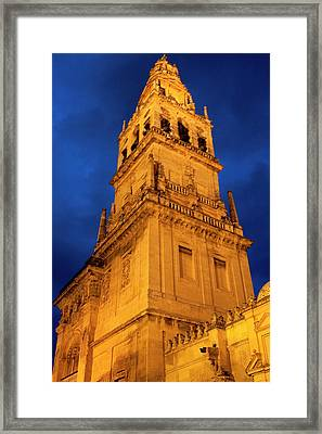 Framed Print featuring the photograph Mezquita Tower by Lorraine Devon Wilke