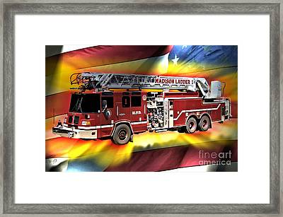 Mfd Ladder Co 1 Framed Print by Tommy Anderson