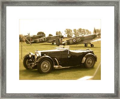 Mg And Spitfires Framed Print by John Colley