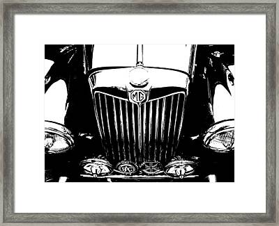 Mg Grill Black And White Framed Print by Nick Kloepping