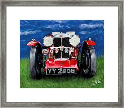 Mg Ta Sports Car Framed Print by David Kyte