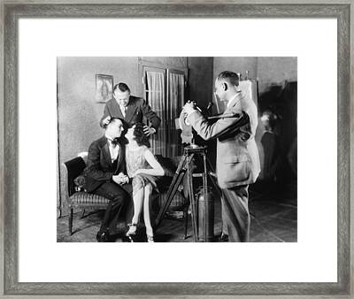 Mgm Director Edmund Goulding Back Left Framed Print by Everett