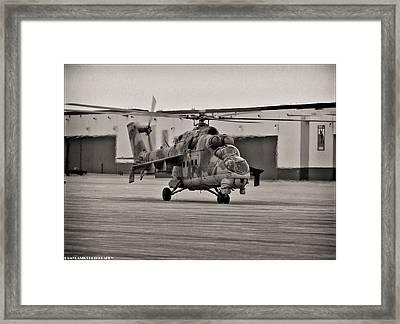 Mi-24 Hind D  Framed Print