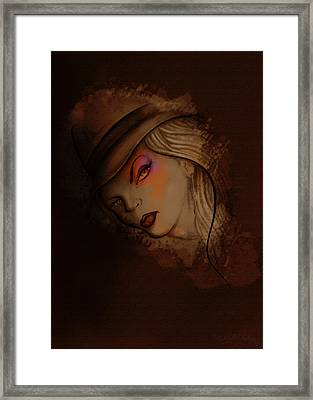 Mi Private Eye Framed Print