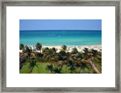 Miami Beach Framed Print by Pravine Chester