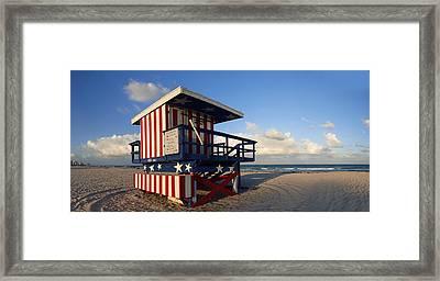 Miami Beach Watchtower Framed Print by Melanie Viola