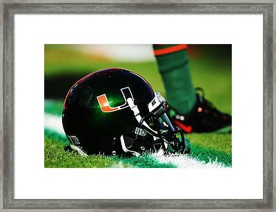 Miami Helmet Framed Print