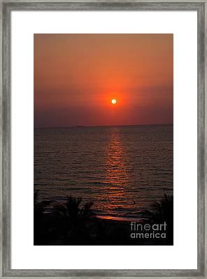 Framed Print featuring the photograph Miami Sunrise by Pravine Chester