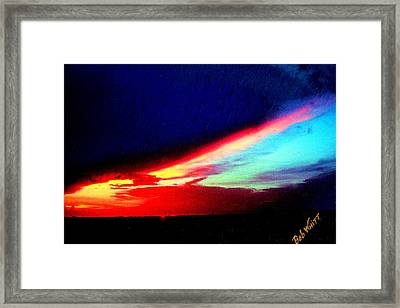 Miami Western Sky Framed Print by Bob Whitt