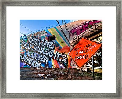 Miami Wynwood Graffiti  Framed Print