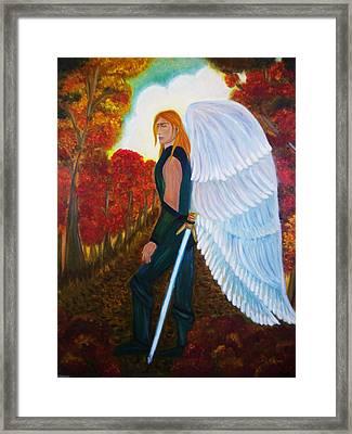 Michael - Michael Archangel Series By Yesi Casanova Framed Print