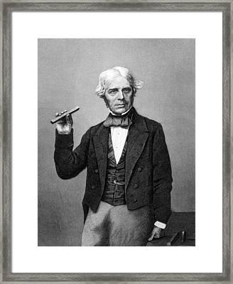 Michael Faraday 1791-1867, Discoverer Framed Print
