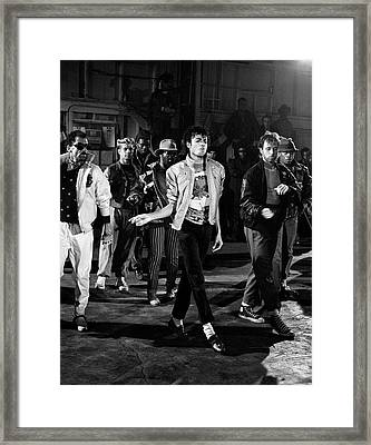 Michael Jackson - Beat It Framed Print by Chris Walter