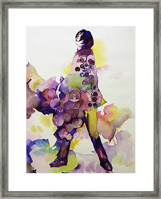 Michael Jackson - Harvest Framed Print by Hitomi Osanai