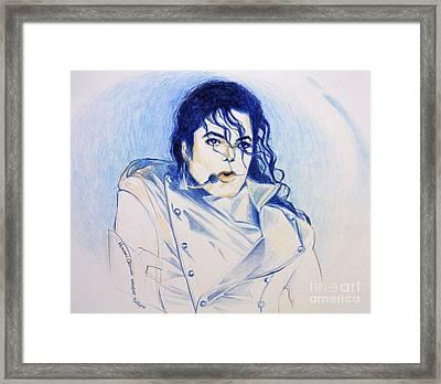 Michael Jackson - History Framed Print by Hitomi Osanai