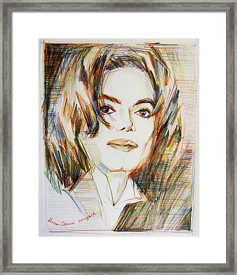 Michael Jackson - Indigo Child  Framed Print