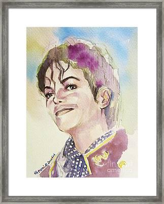 Michael Jackson - Mike Framed Print