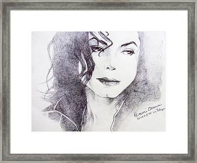 Michael Jackson - Nothing Compared To You Framed Print by Hitomi Osanai