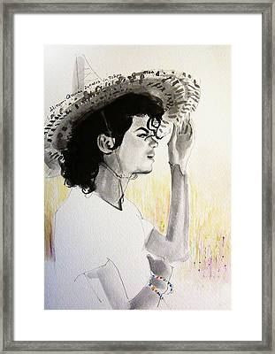 Michael Jackson - One Day In Your Life Framed Print by Hitomi Osanai