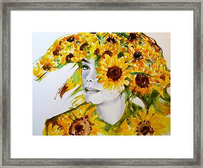 Michael Jackson - Sunflower Framed Print by Hitomi Osanai
