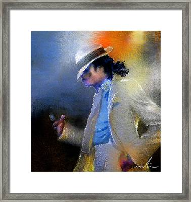 Michael Jackson 10 Framed Print by Miki De Goodaboom